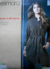NEW ESMARA WOMEN'S STYLISH GREY DENIM DRESS SIZE 12 UK/ 38 EUR