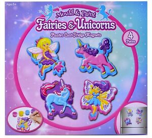 Fairies & Unicorn Mould And Paint Make Your Own Fridge Magnets Craft Activity