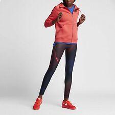 Women's Nike Printed Tights Black Ember Glow Uk Size Small 842447-010