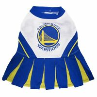 Golden State Warriors NBA Pets First Cheerleader Outfit Dog Dress Sizes XS-M