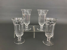 4 Imperial Glass Co. clear pressed liquor glasses, 1950's 1960's