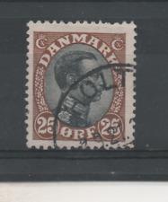 Y257 Denemarken 100 gestempeld