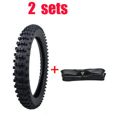 2 Set 70/100-17 TIRE Tyre and TUBE FOR HONDA CT90 CT110 Trail Pit Bike 17 X 2.75