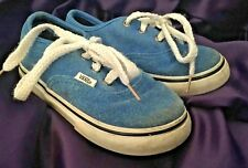 PRE-OWNED Vans Authentic Blue Canvas Lace Up Sneakers Toddlers Size 6.5