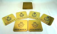 RNZAF Nuseum 6x Coasters Aviation Air Force Collectables Mirrored Finish Defence