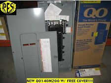PRICE DROP! ~ LOT OF 2- NEW! Square D QO140M200 200A Main Breaker Panel w/ Cover