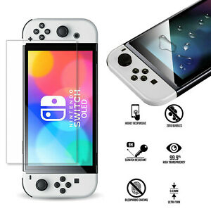Transparent Clear TEMPERED GLASS Screen Protection For NINTENDO SWITCH OLED