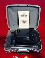 More details for vintage grey stenograph reporter model shorthand machine samsonite case / tripod