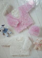 Baby Girls Cardigan/Jacket and Hat Knitting Pattern (BB05)