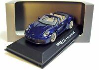 1:43 MINICHAMPS 2019 PORSCHE 911 992 Carrera 4S Cabrio gentian blue DEALER !!!