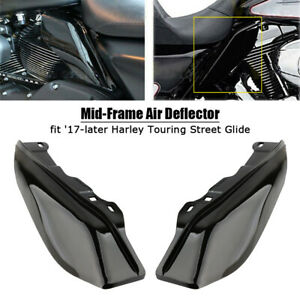 Mid-Frame Air Deflector Heat Shield for Harley Touring Street Glide 17-19 Black
