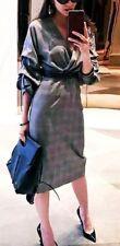 Zara AW17 Women Checked Shift Dress Size M NWT