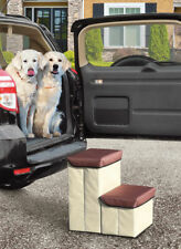 Foldable Pet Steps Portable Collapsible Dog Stairs Storage Padded Fabric 2 Step