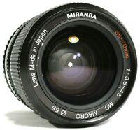 Miranda 35-70mm F3.5-4.5 MC Macro Zoom Lens Pentax PK Mount UK Fast Post