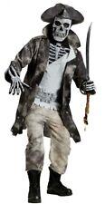 ★ Skelet Kostüm Zombie Ghost Pirate S-M Halloween Totenkopf-Maske Geist Horror