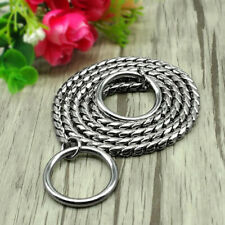 Link Snake Chain Dog Chain Training Necklace Home Puppy Solid Metal Collar JJ