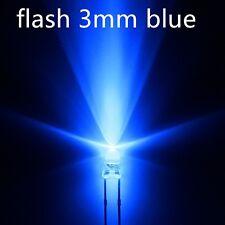 100xa0701 flash 3mm blue LEDs, automatisch blinkende blaue leds.