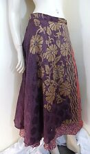 Wraparound Skirt Sarong Gypsy Floaty Floral Boho One Size Indian
