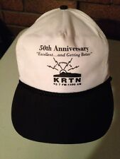 KRTN 50th Anniversary Hat Cap 93.7 FM 1490 AM Radio White and Black - Raton, NM