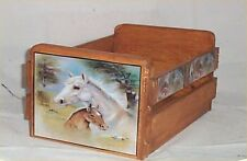 Gift Basket Empty Wood Crate Horse Decor Western Decoration Use for Gift Basket