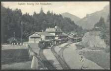 Switzerland Postcard Station Train Brunig Mit Restaurant