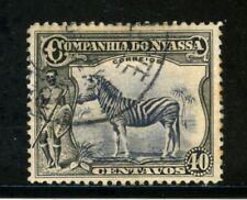 1921/23 - NYASSA ( MOZAMBICO) - 40c. NERO  ZEBRA - USATO - LOTTO/29130