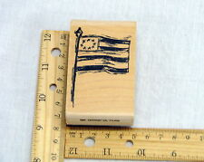 Rubber Stamp Stampington and Company M4456 Small Grand ol' Flag USA