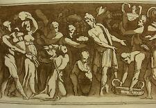 'riche composition des femmes des hommes U.' CARAVAGE/Metz, aquatinte 1791