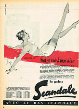PUBLICITE ADVERTISING 015  1957  SCANDALE  gaine par DIAZ