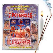 SPIRITUAL PLANT BATH: 7 AFRICAN POWERS- 7 POTENCIAS Bano Despojo Limpia Santeria