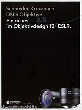Prospetto Schneider DSLR obiettiva XENON 2014 1.6/35 1.4/50 mm macro Symmar Lens