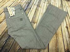 NEW BCBG Max Azria Sophie Twisted Flare Grey Jeans Womens 27 (30 x 33.5) Denim