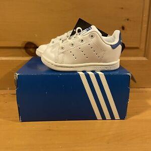 Adidas Stan Smith I BB3000 White and Blue Unisex Kids Shoes Size 6K