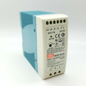 MW Mean Well MDR-40-24 Power Supply Switched Mode 40W 24VDC 1.7A 50/60Hz