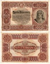 Hungary 100 Korona P#63 (1920) Pénzügyminisztérium XF/aUNC