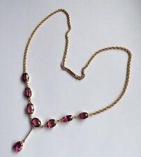 Garnet Rose Gold Edwardian Fine Jewellery
