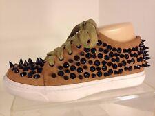 Jeffrey Campbell Riggs Spk Tan Suede Spike Sneaker, Women's Size 7 M