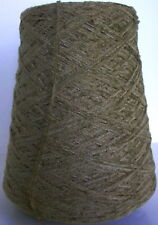OLIVE TAUPE Rayon Chenille cone yarn weave knit 1500 ypp, 1 lb. FREE SHIP!