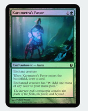 MTG X4: Karametra's Favor, *FOIL*  Born of the Gods, C, NM - FREE US SHIPPING!