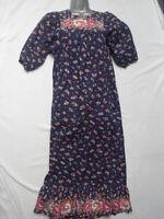 VINTAGE 1970s FLORAL MAXI DRESS - PRAIRIE / BOHO / HIPPY