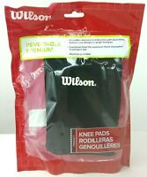 Wilson Premium Knee Pads Reversible Black 1 Pair Machine Washable Dual-Sided