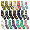 Women Mens Socks Funny Colorful Happy Business Party Cotton Comfortable Socks