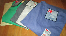 Men's V Neck T-Shirt 3XL Hanes 6 Pc 4 Color100% cotton 50/50  Gray Yellow Green