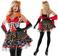 STARLINE SEXY DROP DEAD BEAUTY DAY OF THE DEAD SKELETON HALLOWEEN COSTUME SMALL