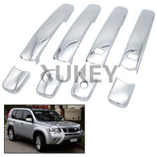 Fit For 08-13 Rogue X-TRAIL T31 Chrome Door Handle Cover Smart Key Trim Overlay