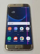 New listing Samsung Galaxy S7 Edge, G935F,32 Gb,Gold, Unlocked,Lcd Problem : Aa046