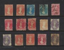 TASMANIA AUSTRALIA 1863-1871 VAN DIEMENSLAND IMPERF & PERFORATED  1d TO 6d (15)