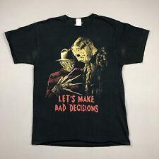 Freddy vs Jason Bad Decisions T Shirt Sz Large