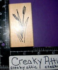 CATTAILS PLANT RUBBER STAMPS ART IMPRESSIONS F-1882