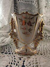 ancien petit vase de maries eglise XIXe  doré 10cm porcelaine paris